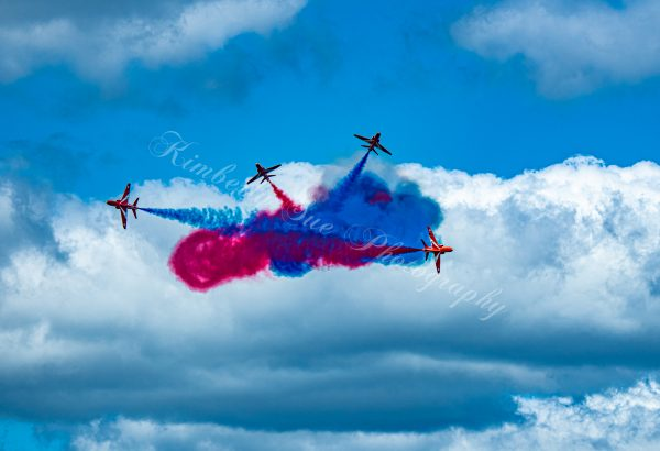 British Royal Air Force, Red Arrows in Hawk T1 Aircraft,International Air Show, Stewart Air Base, NY (Digital Download)