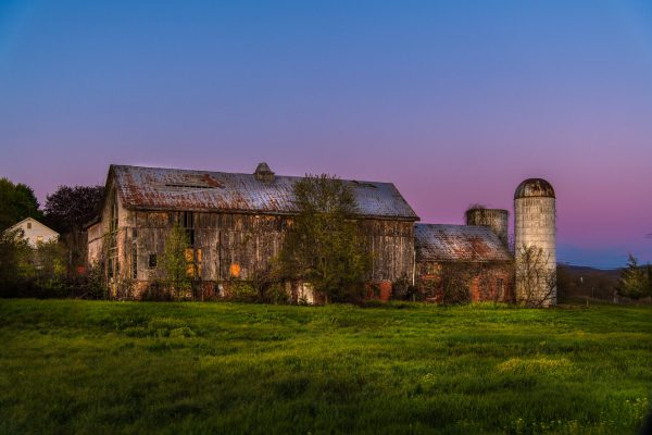 Old Barn Under the Setting Sun
