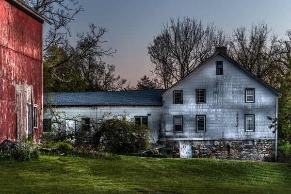 Rustic Home and Barn During Sunset (Version 3)