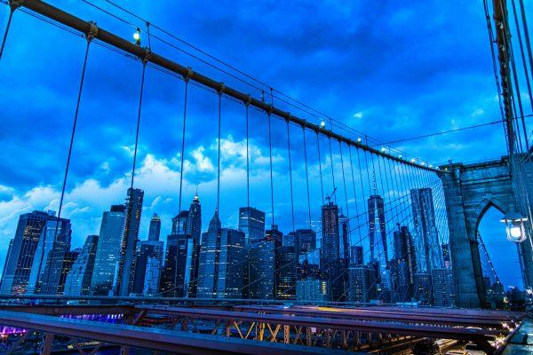 Freedom Tower & NYC Skyline shot from the Brooklyn Bridge