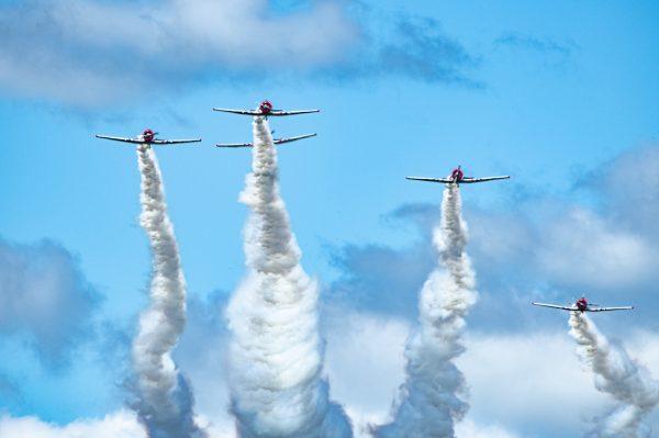 Geico Skytypers Air Show Team, International Air Show at Stewart Air Base