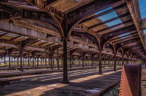 Old Lady Liberty Train Station, Liberty State Park. (Color) (Digital Download)