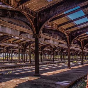 Old Lady Liberty Train Station, Liberty State Park. (Color)