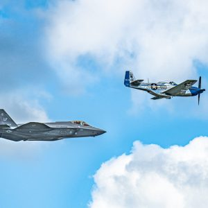 F-35 Strike Fighter & P-51 Mustang International Air Show Stewart Air Base