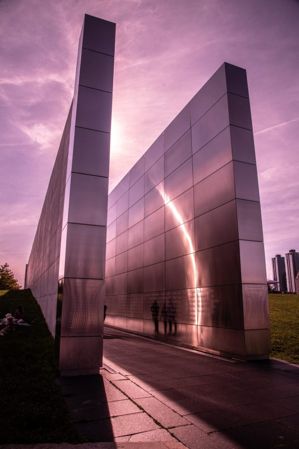 "9/11 ""Empty Sky Memorial"" During Sunset at Liberty State Park"