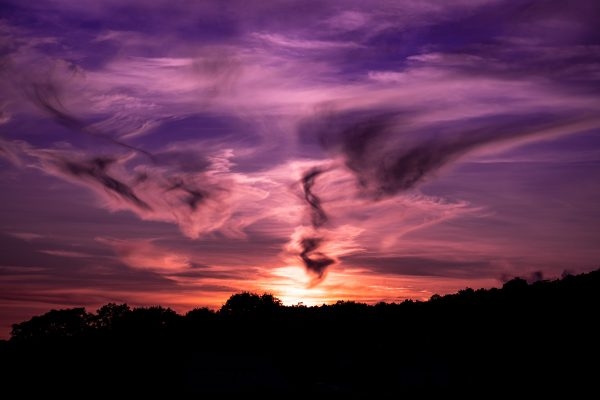 Smokey Magenta Sunset