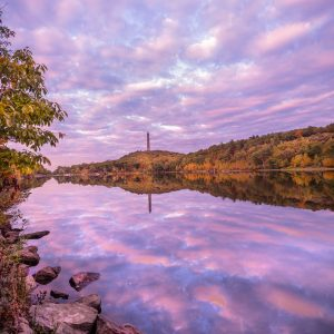 Fall Sunset at Highpoint State Park, NJ Vertical/Portrait Orientation (Digital Download)