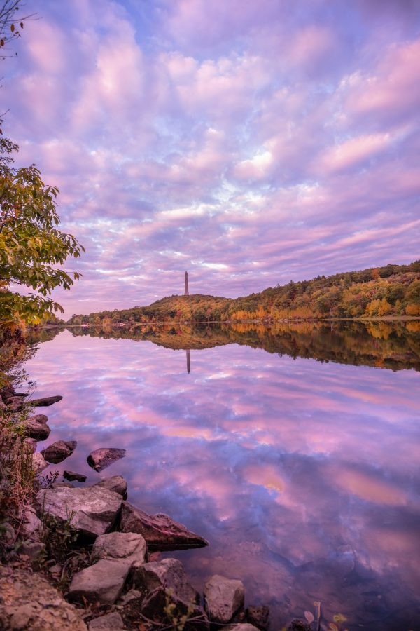 Fall Sunset at Highpoint State Park, NJ Vertical/Portrait Orientation