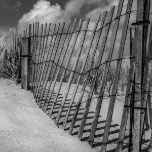 Fence in the Dunes Ocean Grove, NJ (Black & White)