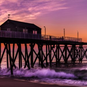 Sunrise at the Ocean, Belmar Fishing Pier, NJ Shore