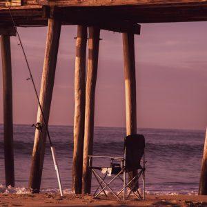 Sunrise at the Ocean, Belmar Fishing Pier, NJ Shore (Version 3)