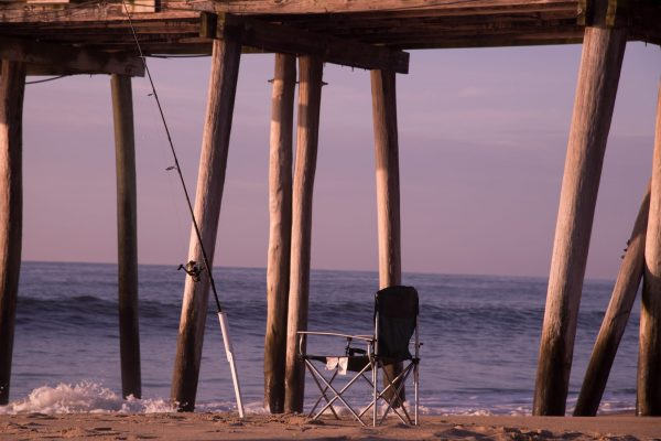 Sunrise at the Ocean, Belmar Fishing Pier, NJ Shore (Version 2)
