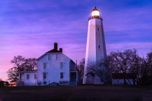 Lighthouse At The Sandy Hook, NJ. Fort Hancock Proving Grounds (Prints)