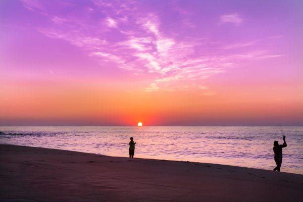 Sunrise at the Ocean, Belmar Fishing Pier, NJ Shore